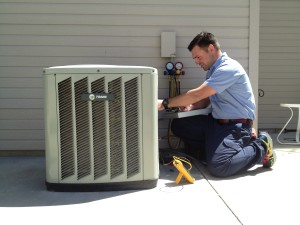 central air conditioner service technician