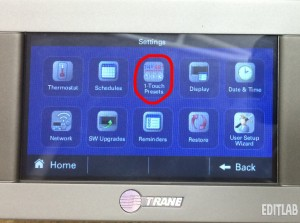 Trane xl824 thermostat