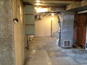 old ductwork in basement