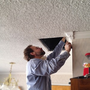 repairing dusty home