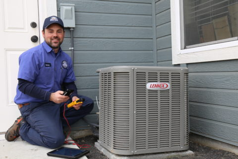 One of the many HVAC contractors on our team performing service in Eagle, Idaho